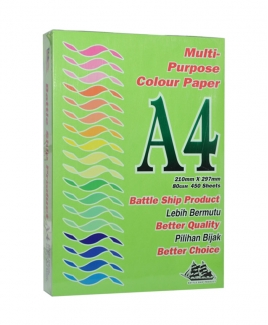 Battleship Product® A4 Colour Simili (80gsm) - Dark Green/ Parrot